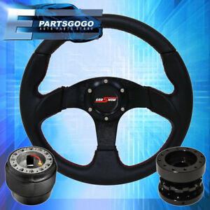 320mm Pvc Leather Steering Wheel Hub Adapter Extender Godsnow Button 95 95 Civic