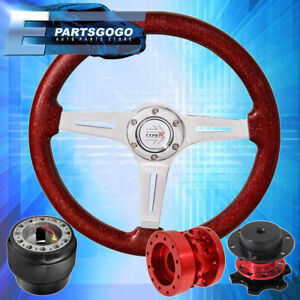 Sparkle Red Steering Wheel Quick Release Red Hub Extender For 90 97 Miata
