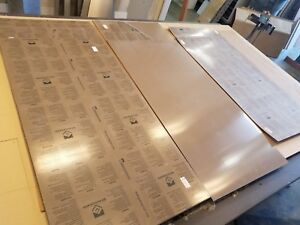 Lot Of 9 24 x48 Sheets Of Gravotac Exterior Matte Taupe 31262 1 8 1 32
