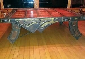 Indian India Ox Cart Coffee Table