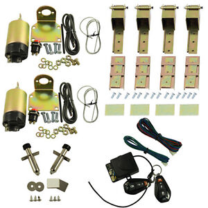 85 Lbs Shaved Door Remote Kit Universal 2 Door Suicide Hidden Hinges Kit