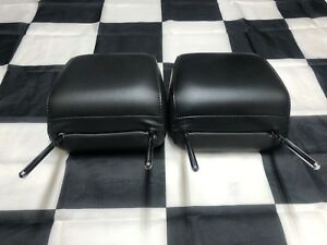 2005 2008 Mustang Front Leather Black Headrest Set Pair Oem