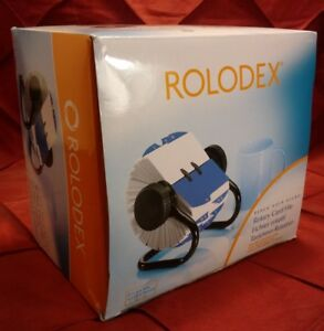 Rolodex Open Rotary Card File With 500 2 1 4 X 4 Inch Cards And 24 Guides Black