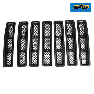1997 2006 Jeep Wrangler Tj Black Grille Wire Mesh Stainless Upper Replacement