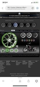 Performance Machine 26 Inch Motorcycle Wheels And Tires Custom Set Front Rear