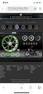 Performance Machine 26 Inch Motorcycle Wheels And Tires Custom Set Front