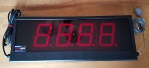 4 4 Digit 7 Segment Led Display In Black Metal Indoor Use Serial Rs232