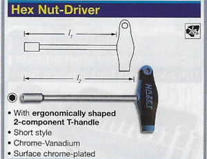 Hazet Tools 428 7 Hex Nut Drive 7mm T Handle Made In Germany