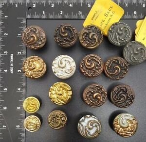 Vintage Hardware Bassick Sack Shell Scroll Cast Iron Drawer Pull Lot Of 17