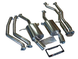 Top Speed Pro 1 Catback Exhaust Mid Pipe Fits 2007 2010 Bmw335i Coupe Sedan