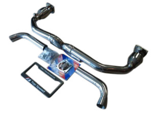 Top Speed Pro 1 Straight X Pipe Exhaust Fits 2000 2005 Porsche 996 Turbo Gt2