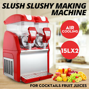 Solid Slush Machine 2 Tanks 30l Frozen Margarita Drink Machine Us Shipping