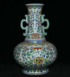 12 8 Yongzheng Marked Old China Doucai Porcelain Dynasty Flower Bottle Vase