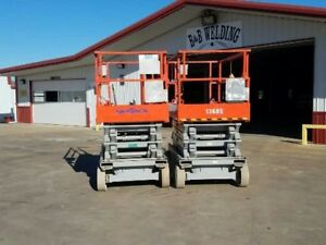 Skyjack Sjiii 4632 Electric Slab Scissor Lift Up 32 Feet Jlg Genie Very Low Hour
