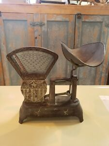 Antique National Candy Scale 2 Lb General Store Great Original Patina
