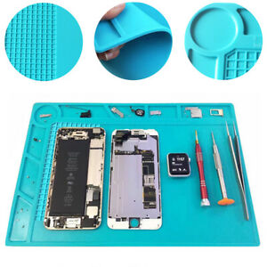 Heat Insulation Silicone Pad Soldering Cell Phone Working Repair Platform Mat
