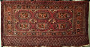 Antique Tekke Turkmen Chuval With Salor Type Guls Bagface Central Asia N9