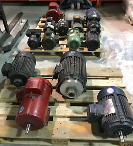 Electric Motors 1hp 5hp Sizes Ac Electric Lot Of 14 Motors In Total Used