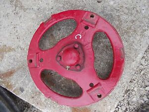 Farmall C Tractor Ih Front Pedestal Cast Hub Spindle To Rim W Cap 3 Buckle Styl