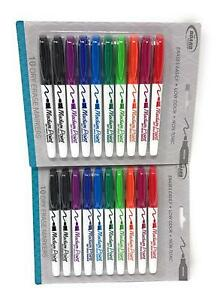 2 Pack Board Dudes Srx Dry Erase Markers Medium Point 10 count Assorted