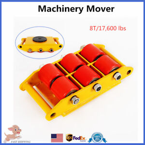 Heavy Duty Machine Dolly Skate Roller Machinery Mover 8t 17 600lbs Rotation Cap