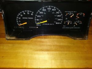 1995 Chevy Silverado Tach Instrument Cluster Fits Z71 2500 3500 Pick Up