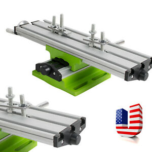 Usa 2 Axis Milling Compound Working Table Cross Sliding Bench Drill Vise Fixture