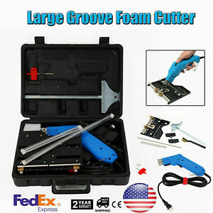 110v Groove Electric Cutter Foam Hot Wire Blade Grooving Cutter Tool Styrofoam