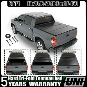 6 5ft Bed Hard Tri Fold Tonneau Cover Fit 2009 2018 Dodge Ram 1500 2500