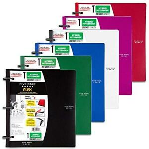 Five Star Flex White Notebinder 1 inch Capacity 11 5 Inches Notebook And Pack