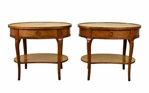 Pair Of Baker Milling Road Mahogany End Tables Or Nightstands