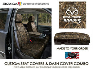 Solid Realtree Max 5 Camo Seat Covers Full Set Dash Cover For Ford F 250