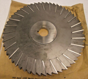 5 Niagara Hss Slitting Saws Staggered Tooth 10 Dia X 3 8 X 1 1 4 I d