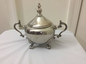 Vintage Antique F B Rogers Silver Sugar Bowl