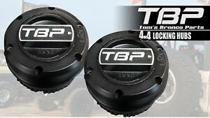 Tom S Bronco Parts Premium Black Locking Hubs 66 79 Ford Bronco Dana 30 44