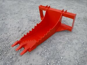 Kubota Skid Steer Attachment Stump Bucket Extreme Duty Dig Spade Ship For 199