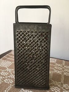 Old Farm Boston Advertising Large Kitchen Punched Tin Grater