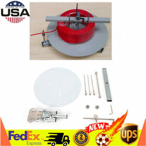 Portable Cable Wire Cord Spool Reel Dispenser Stand Roller Tool White Usa Stock