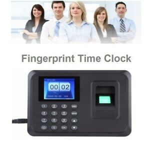 Time Attendance Clock Recorder Clocking Machine Fingerprint Usb Password Usa