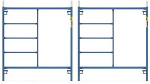 Scaffold Frame 5 Ft X 5 Ft Dimension 4 Ft Locking Pin Spacing 2 pack