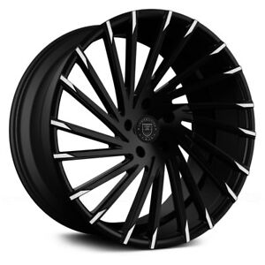 Lexani Wraith 1pc Wheels 18x8 15 5x114 3 74 1 Black Rims Set Of 4