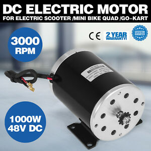1000w 48v Dc Electric Motor Scooter Mini Bike Ty1020 20 8a Reversible 11 Teeth