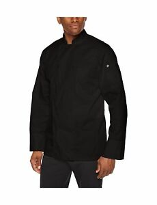 Chef Works Men s Calgary Cool Vent Basic Chef Coat Black X small