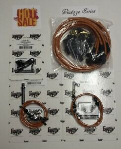 Tan Vintage Spark Plug Wire 350 Transmission Kick Down Throttle Cable Kit