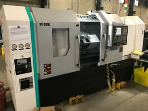 2017 Feeler Ft 250mc Cnc Turning Center Live Tooling 10 Chuck Video Availab