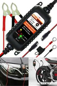 Motorcycle Automatic Battery Charger Float Trickle Maintainer Tender 800ma 12v