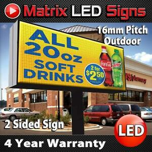 Led Sign Outdoor Full Color 2 Sided 16mm Programmable Electronic Message Center