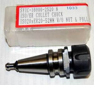 Techniks Iso 20 Er 20 40k Rpm Balanced Collet Chuck W pull Stud cnc Routers