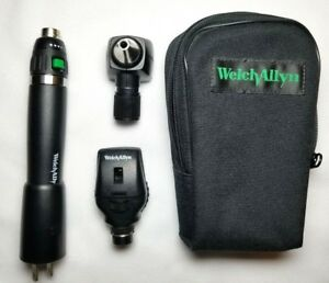 Welch Allyn 3 5v Diagnostic Set W 20000 Otoscope Lithium ion Plugin Handle
