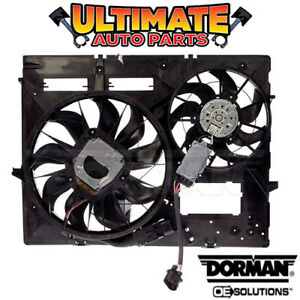 Radiator Cooling Fan 3 2l V6 W Controller For 05 06 Vw Touareg Tow Package
